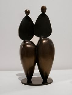 ROBERT  HOLMES - Strolling Couple II is a bronze sculpture by Robert Holmes at Sculpturesite Gallery. #art #sculpture #design #bronzesculpture #robertholmes #sculpturesite