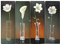 Peinture moderne florale www.tableaux-online.com