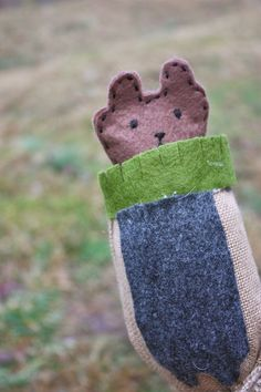 Will the groundhog see his shadow this year?  Here's a cute DIY groundhog puppet!