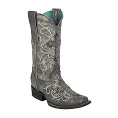 These Corral women's cowgirl boots are made with a distressed leather and feature a highly-detailed beaded crosses on the shaft and vamp. Made with a rounded V-collar, these boots are also made with a Cowgirl Boots, Western Boots, Country Boots, Cowgirl Style, Country Chic, Corral Boots Womens, Over Boots, Wedding Boots, Chic Wedding