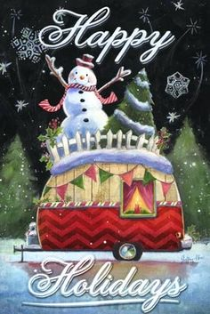 Solve Holiday card jigsaw puzzle online with 48 pieces Christmas Truck, Noel Christmas, Vintage Christmas Cards, Christmas Signs, Christmas Pictures, Xmas Cards, Christmas Greetings, Winter Christmas, Christmas Crafts