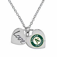 Oakland Athletics Ladies Field of Dreams Heart Necklace $19.95