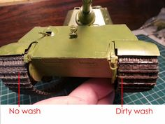 Scale model tutorial: how to paint a WASH.