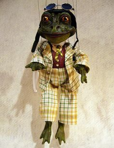 Mr. Toad Marionette Wind in the Willows by ofMiceandMarionettes, $275.00