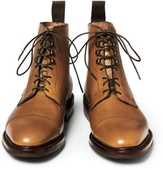KINGSMAN  GEORGE CLEVERLEY LEATHER LACE-UP BOOTS  £545.41 / Approx. RM3,064