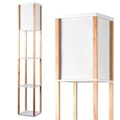 Struttura Wooden Shelving Unit Oak Effect with Integrated Lamp