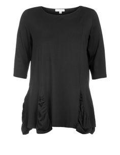 Isolde Roth Jerseyshirt mit Raffungen in Schwarz