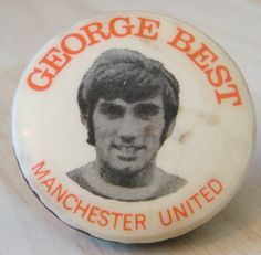 MANCHESTER UNITED Player from 1963-1974 GEORGE BEST Badge 31mm x 31mm in Sports Memorabilia, Football Memorabilia, Badges/ Pins | eBay
