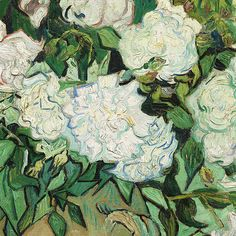 "lonequixote: "" Vase with Roses (detail) by Vincent van Gogh """