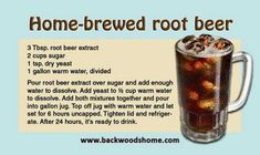 Home-brewed root beer - Deringa Brewing Recipes, Beer Recipes, Old Recipes, Vintage Recipes, Drink Recipes, Yummy Recipes, Beer Brewing, Home Brewing, Loosing Weight