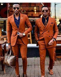 colored-suit-Burnt-orange-suit-giving-us-life-amillionstyles - Madailygist Mens Fashion Blog, Mens Fashion Suits, Look Fashion, Mens Suits, Fashion Menswear, Fashion Bags, Fashion Backpack, Fashion Jewelry, Orange Blazer Outfits