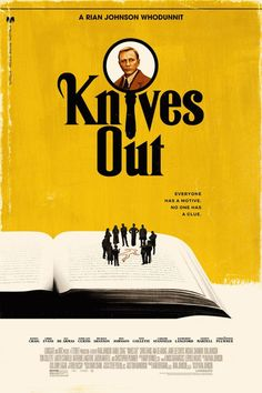 Knives Out - Directed by Rian Johnson. Alternative Poster by Phantom City Creative. Really enjoyed this a lot! A solid compelling mystery that has your attention from start to finish. Outstanding cast as well. Film Poster Design, Movie Poster Art, Poster Wall, Poster Prints, Poster Designs, Poster Layout, Pulp Fiction, Power Trip, Star Wars Film