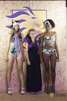Pasarela Raza CESDE 2-2014, Diseño por Sara Martinez J. #vestidos de #baño