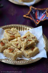 Indian Cuisine: 7 Cup Sweet / 7 Cup Burfi Recipe - Deepavali Special Sweets Recipes