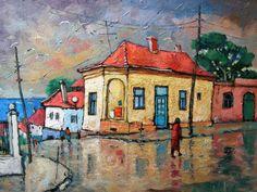 David Croitor   Romanian Painter   1958   City Street Paintings