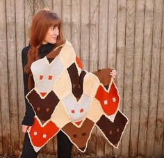 Yes, we have enough foxy knitting patterns to put 'em together in a whole collection ;) Easy Knit Blanket, Easy Knit Hat, Knitted Blankets, Knitted Hats, Happy As A Clam, Fox Hat, Easy Knitting Projects, Fox Pattern, Knitting Needles