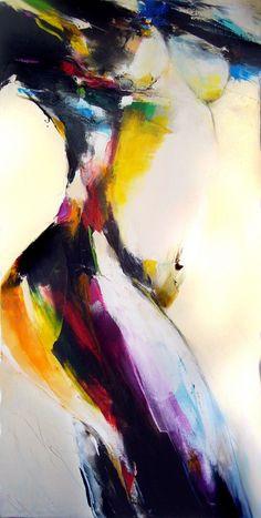 transparence#2 - Peinture,  50x100 cm ©2014 par Christian Vey -
