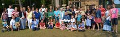 With the exception of our little TINYBEANS QUEEN-who was napping-here is our ENTIRE family at our reunion!