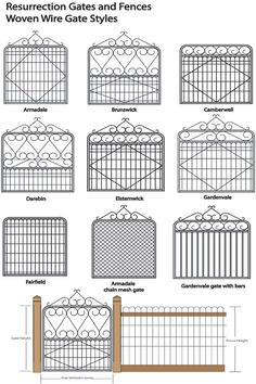 Woven Wire Gate Types - to create a section for the dog                                                                                                                                                                                 More