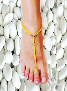 Barefoot Sandals Barefoot Beach Jewelry Seashells by NinnisGift, $9.00