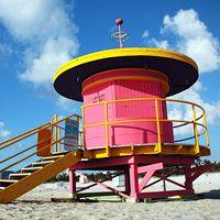 South Beach Lifeguard stand, Miami, Florida