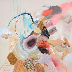 "They Formed A Bridge by Meghan Hildebrand.  40"" x 40"", acrylic on canvas. $4400 CDN including frame"