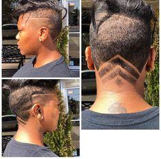 Women Hair Cut With Designs
