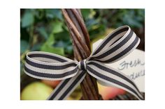Rustic Bow. Ribbon by Jane Means