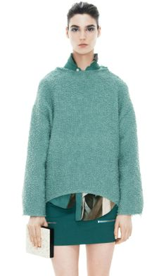 I'd redesign a bit - but lovely color and texture and structure almost works for me. Acne Knitwear