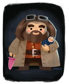 Hagrid and baby Harry