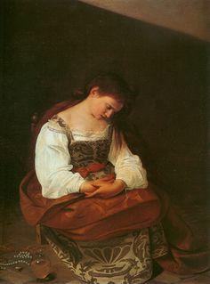 A Penitent Mary Magdalene  --  Circa 1595  --  Caravaggio  --  Oil on canvas  --  Galleria Doria Pamphilj  --  Rome, Italy