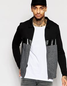 leather jumpers mens - Google Search