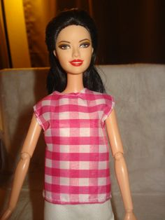Barbie Doll Separates  Pink and white by KelleysKreationsLV, $3.50