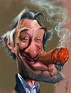 Gallery of caricature / Robert De Niro Funny Face Drawings, Funny Faces, Funny Caricatures, Celebrity Caricatures, Cartoon Faces, Cartoon Art, Cinema Tv, Caricature Drawing, Funny Art
