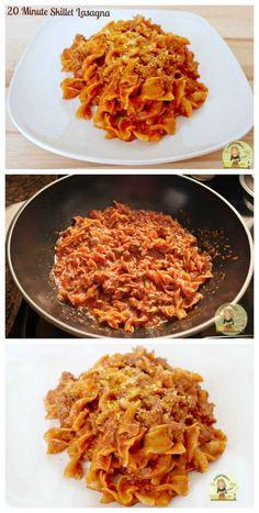 20 Minutes One Pan- Easy Skillet Lasagna