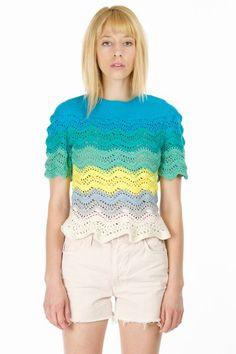Multi Colored Crochet Top