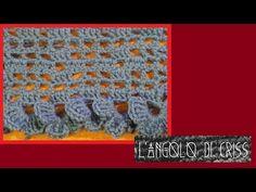 Tutorial punto  rete e mezze viole all'uncinetto -  uncinetto facile passo a passo - YouTube