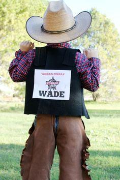 DIY Rodeo Cowboy Bull Rider Halloween Costume Idea: the Child at Heart blog