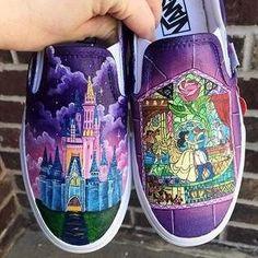 Disney Painted Shoes, Painted Canvas Shoes, Painted Vans, Custom Painted Shoes, Disney Shoes, Hand Painted Shoes, Disney Outfits, Disney Clothes, Disney Vans