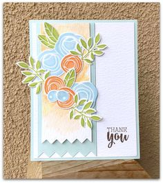The Stampin' Bean: Fresh Floral Thank You