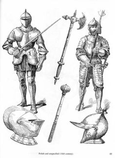 Ancient and Medieval Arms and Armor Medieval Tattoo, Medieval Drawings, Medieval Knight Armor, Medieval Weapons, Fantasy Armor, Medieval Fantasy, How To Draw Weapons, Types Of Armor, Armadura Medieval