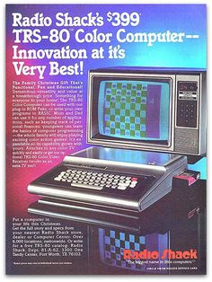 """Radio Shacks $399 TRS-80 Color Computer — Innovation at it's Very Best!"""" …And apparently, before the 'em dash' was invented."""