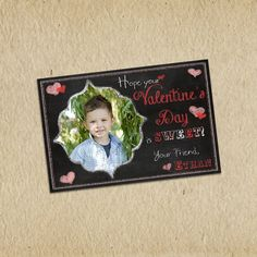 Valentine's Day Card  Photo Customized 4X6 by LilMonkeysDesigns, $13.00