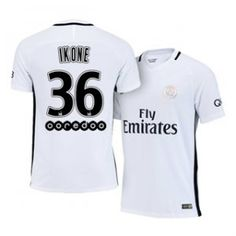 16-17 Cheap PSG White Third #36 Ikone Replica Football Shirt [H00779]