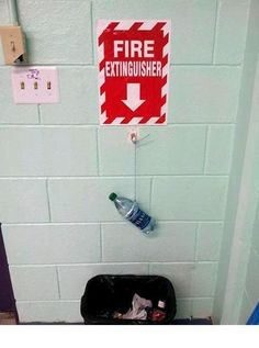The person who made a replacement for their missing fire extinguisher. | 28 People Who Totally Fixed Everything