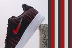 This Nike Air Force 1 Low Jewel draws inspiration from the Chicago Bulls and their vintage pinstripe uniforms that they used to wear back when Michael Jordan hooped on the team. Air Force 1, Nike Air Force, Pony Hair, Michael Jordan, Makeup Inspiration, Chicago, Black Leather, Sneakers Nike, Jewels