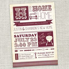 Love this house warming invite! Ppl are still telling us to plan one, just gotta pick a date!