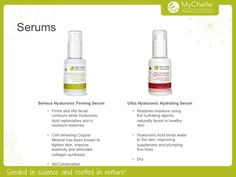 MyChelle Serums, available at www.mychelle.com
