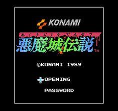 Akumajou Densetsu (Japan) Title Screen