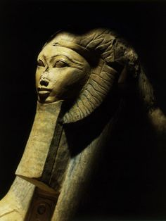 Hatshepsut as a Sphinx, One of Pair, Colossal Statue from her Funerary Temple at Deir el-Bahri, Egypt